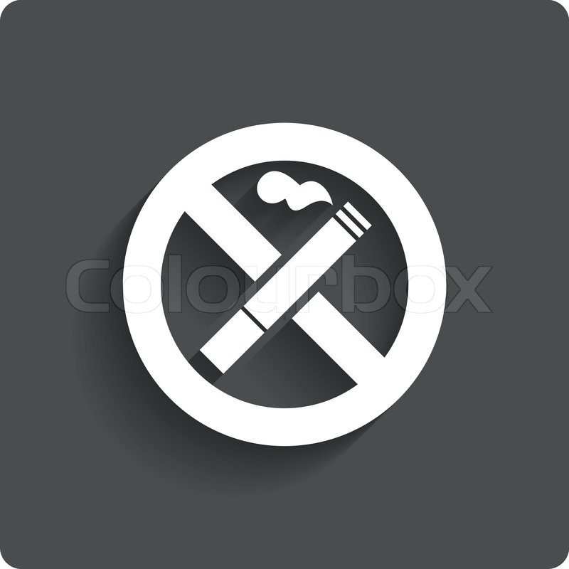 stock vector of no smoking sign no smoke icon stop smoking symbol