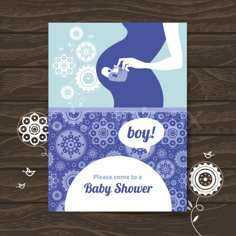 Silhouette pregnant mother baby shower invitation stock vector silhouette pregnant mother baby shower invitation vector filmwisefo Images