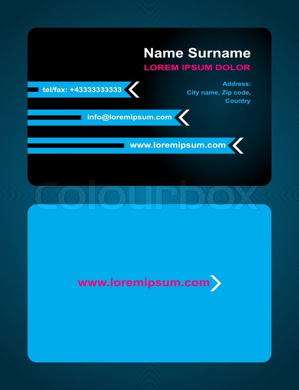 Business Card Creative Design Elegant Style Print Front And Back - Front and back business card template