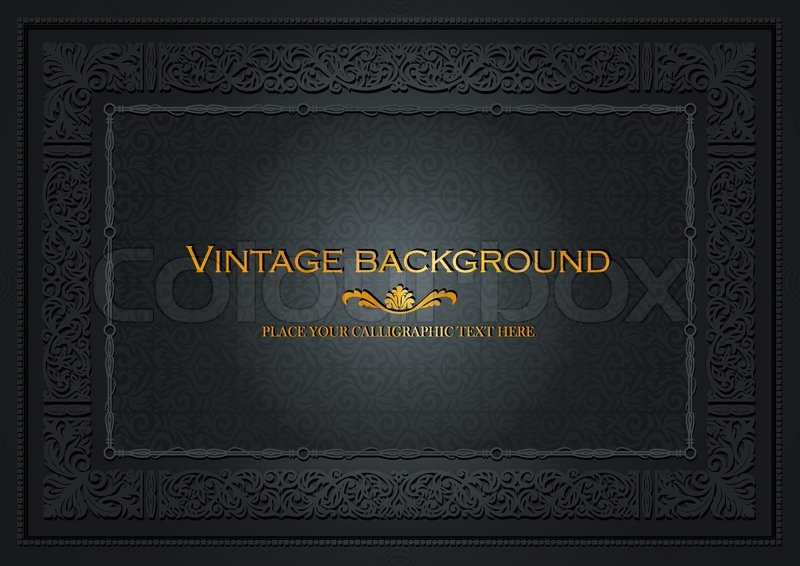 vintage dark background  antique style frame  victorian