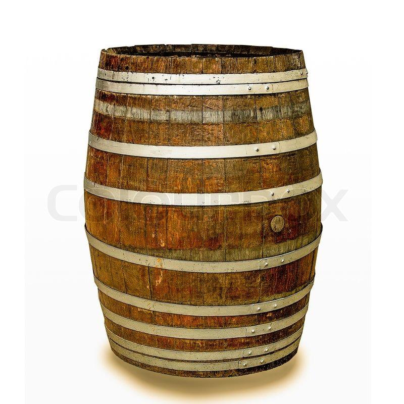 Wine barrel isolated on white background | Stock Photo ...