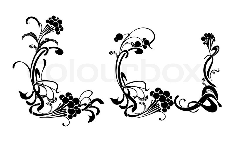 Vector drawing of the elegant frames easy to modify | Stock Vector ...