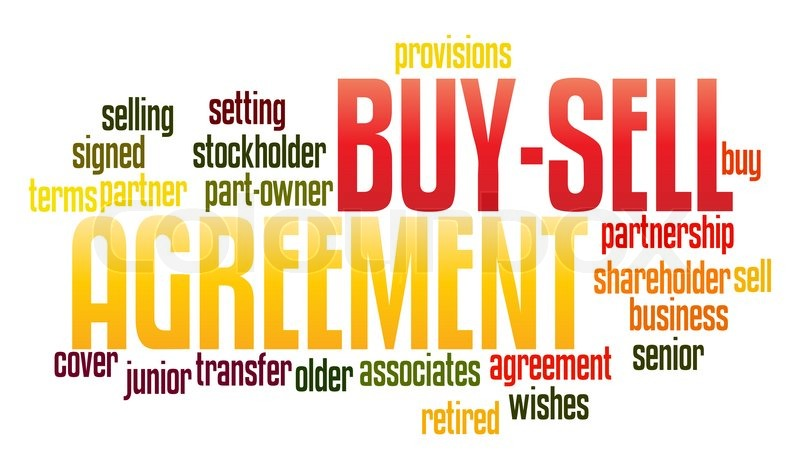 Buy Sell Agreement In Word Collage Stock Photo Colourbox