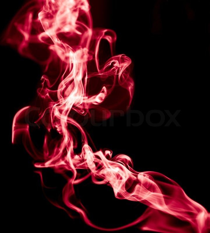 Red Smoke On Black Background Stock Image Colourbox