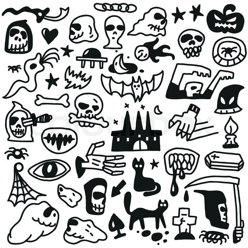 Cute Doodle Monsters Monsters Doodles Set