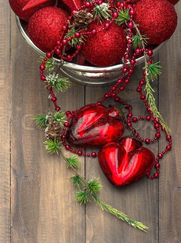 vintage weihnachten hintergrund mit roten