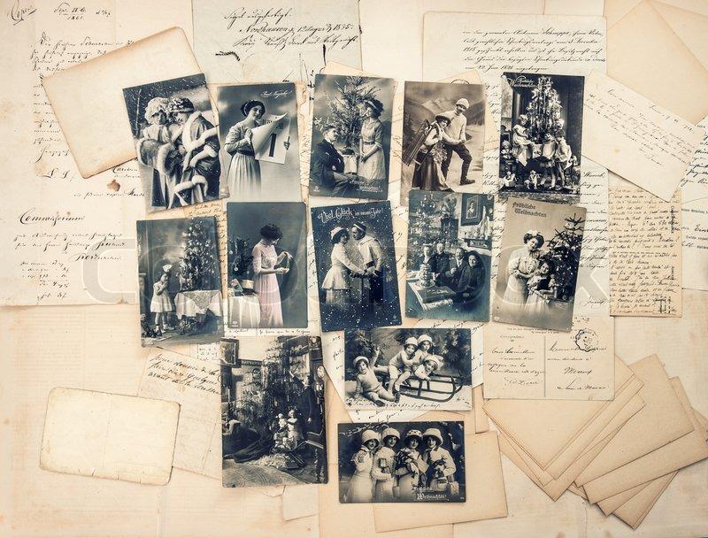 Briefe Und Postkarten 2018 : Vintage weihnachten und silvester postkarten alte
