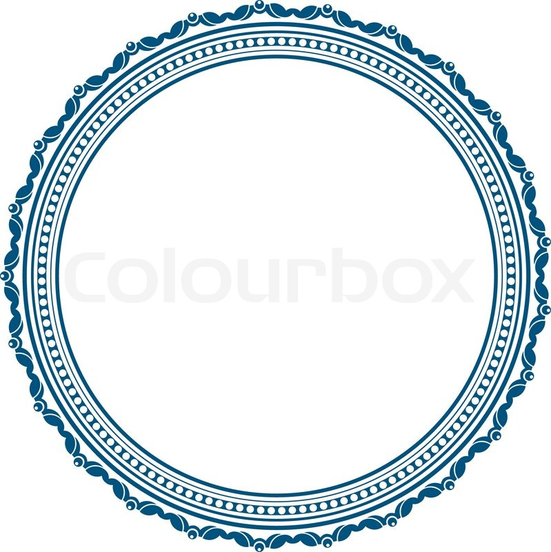 stock vector of vintage round frame