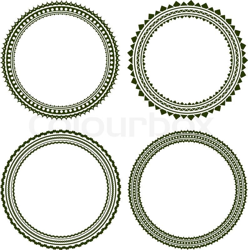 Set of 4 elegant round frames   Stock Vector   Colourbox