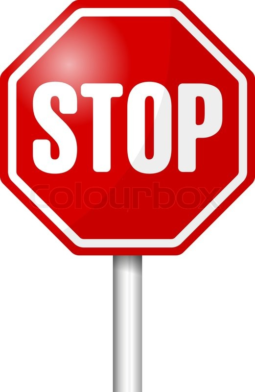 stop sign vector illustration stock vector colourbox rh colourbox com stop sign vector free stop sign vector art free