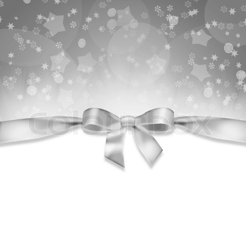 new years background ribbon and snowflakes on abstract gray background stock photo colourbox