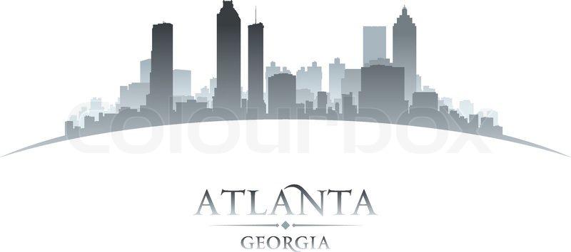atlanta georgia city skyline silhouette vector illustration stock rh colourbox com Los Angeles Skyline Vector Art New York Skyline Vector