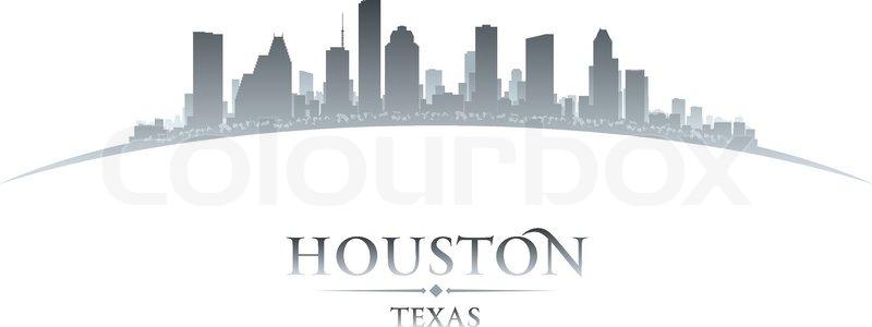 houston texas city skyline silhouette vector illustration vector