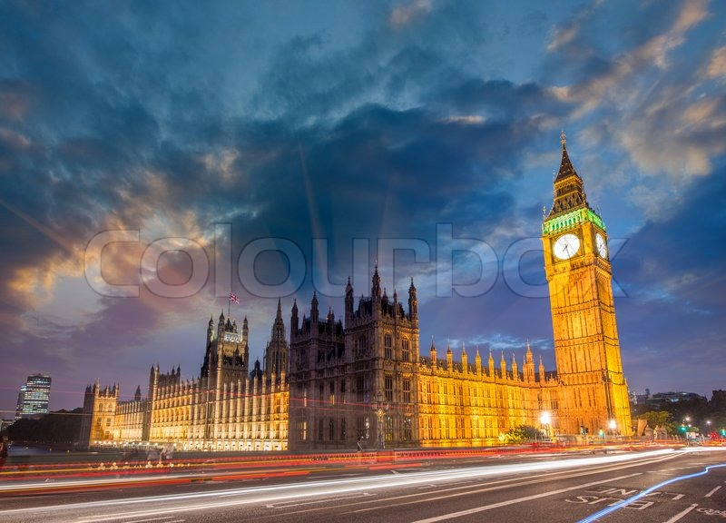the houses of parliament sunset