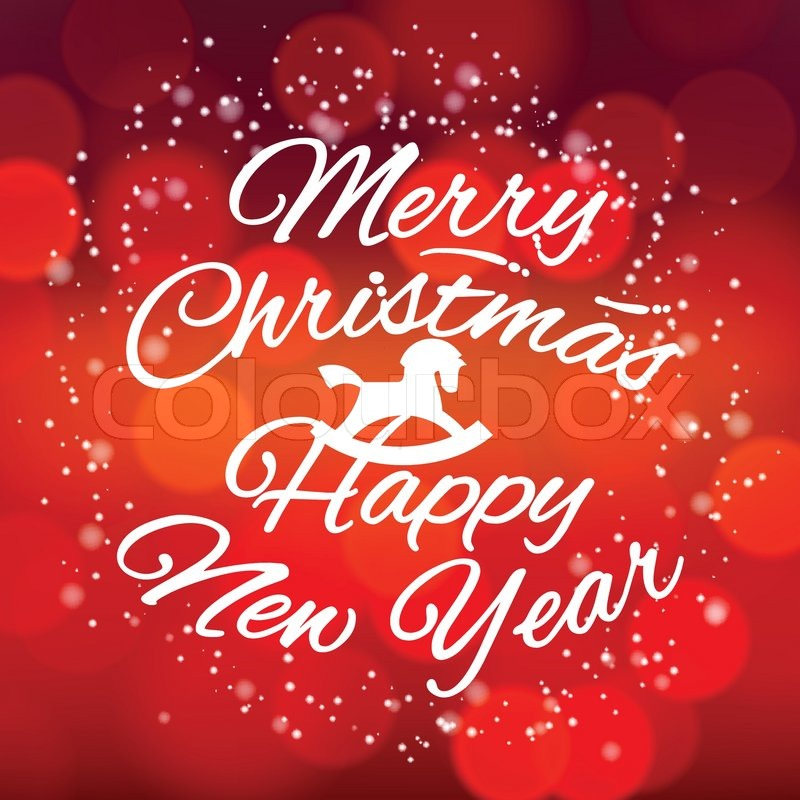 Merry Christmas and Happy New Year design card, vector Eps10 ...