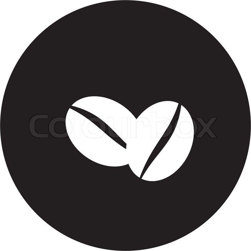 Coffee beans symbol | Stock Vector | Colourbox