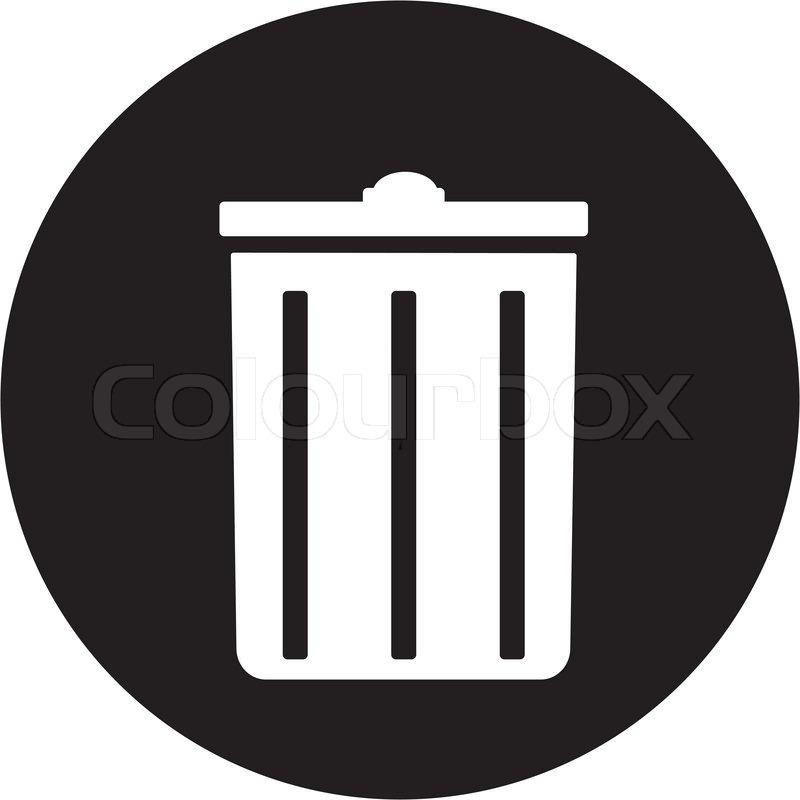Trash can icon   Vector   Colourbox
