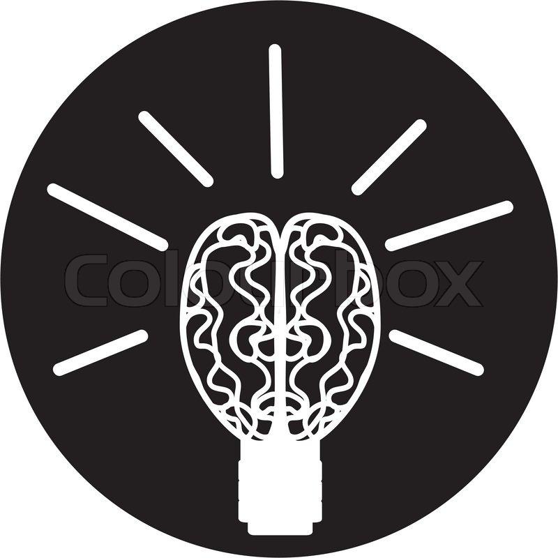 Computer Brain Icon Brain Icon Vector