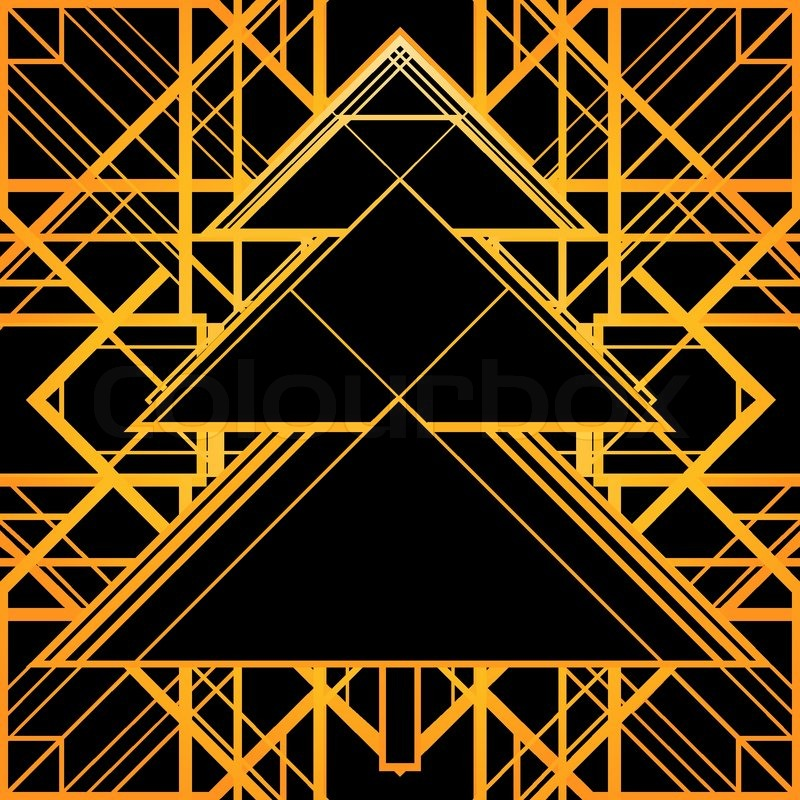 Christmas greeting card background in 1920s art deco geometric christmas greeting card background in 1920s art deco geometric style black and gold good for retro parties designs vector voltagebd Images