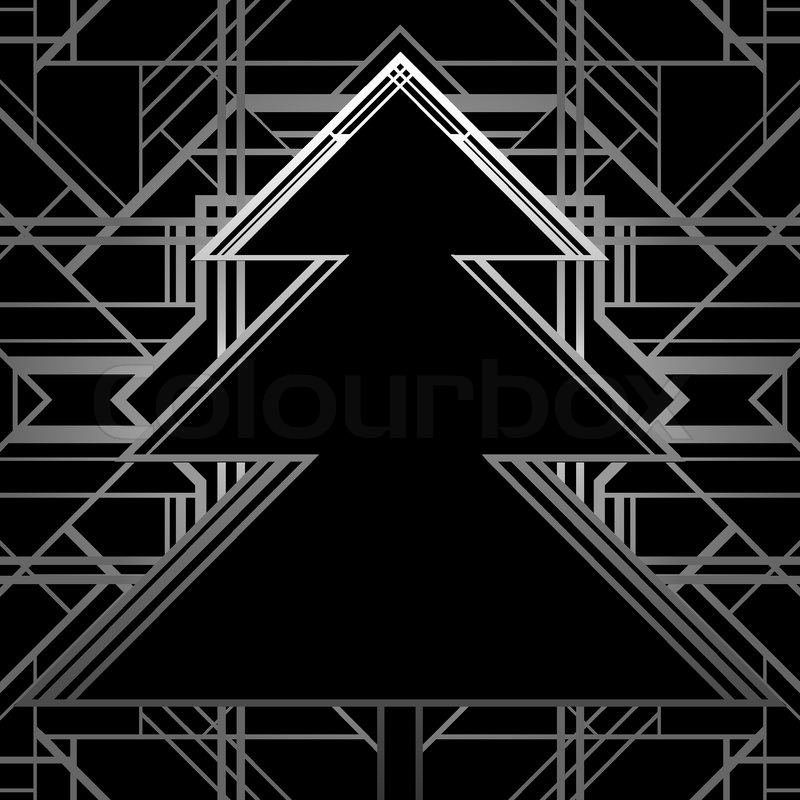 Christmas greeting card background in 1920s art deco geometric christmas greeting card background in 1920s art deco geometric style black and gold good for retro parties designs stock vector colourbox m4hsunfo