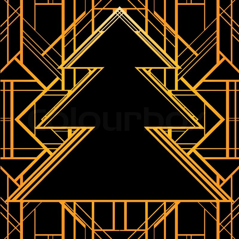 Art deco geometric pattern 1920 s style stock vector colourbox - Christmas Greeting Card Background In 1920 S Art Deco