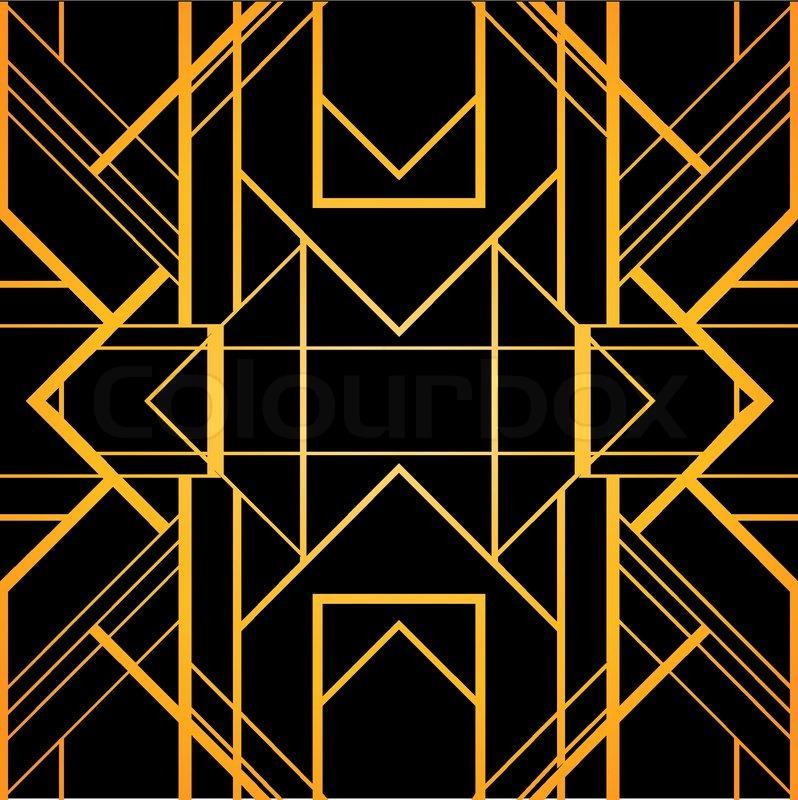 Art deco geometric pattern 1920 s style stock vector colourbox - Vintage Background Retro Style Frame 1920s Stock