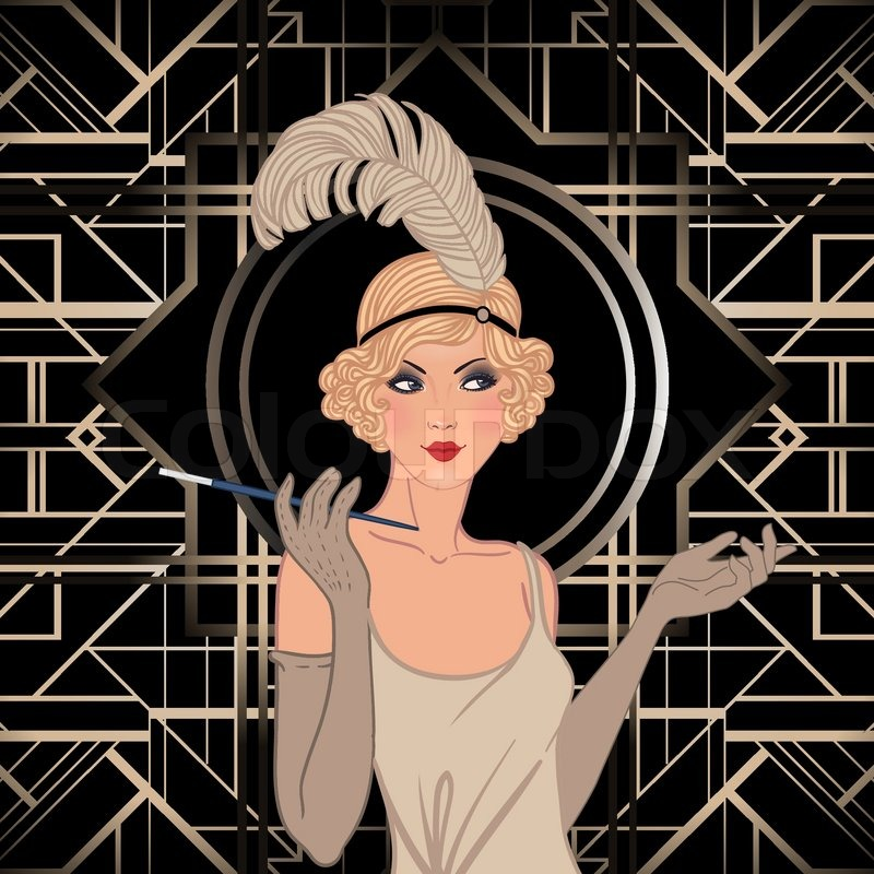 Tuto Coiffure Onduler Ses Cheveux Avec Un Fer A Lisser together with Adopter Un Chien further Architectural Drawing 11 furthermore Flapper Girl Retro Party Invitation Design Vector Illustration Vector 8538229 besides Disney Wonder Deck Plan 6. on art deco home plans