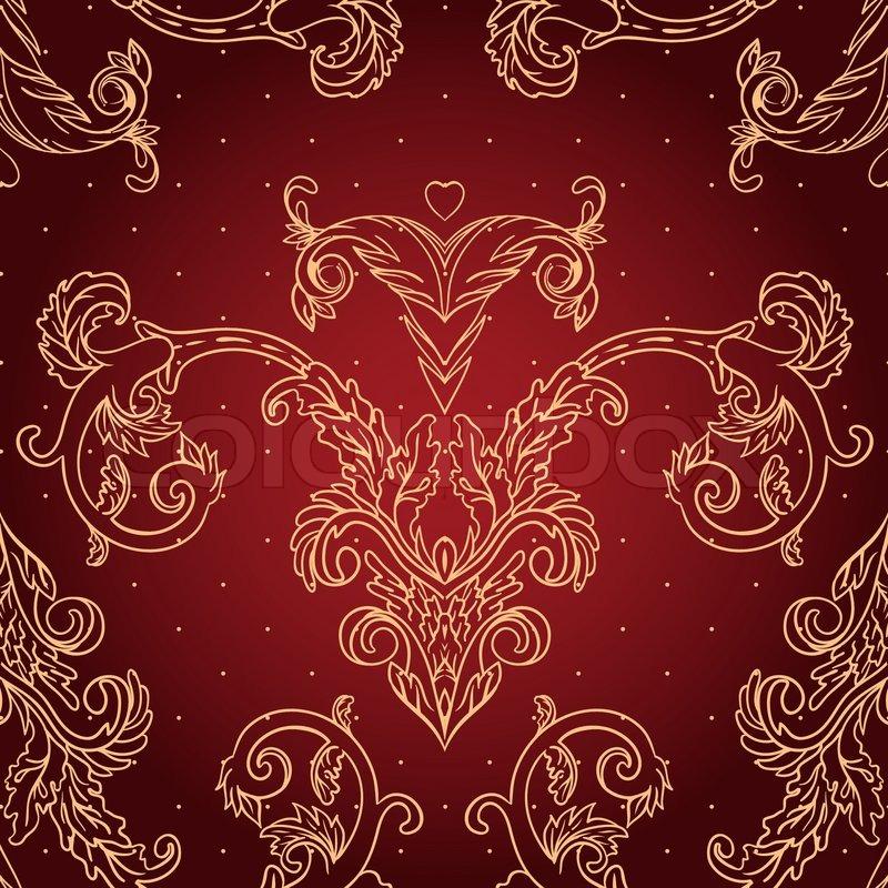 Vintage Background Ornate Baroque Pattern Vector