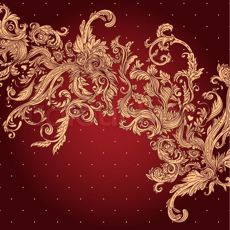 Vintage Background Ornate Baroque Pattern Vector