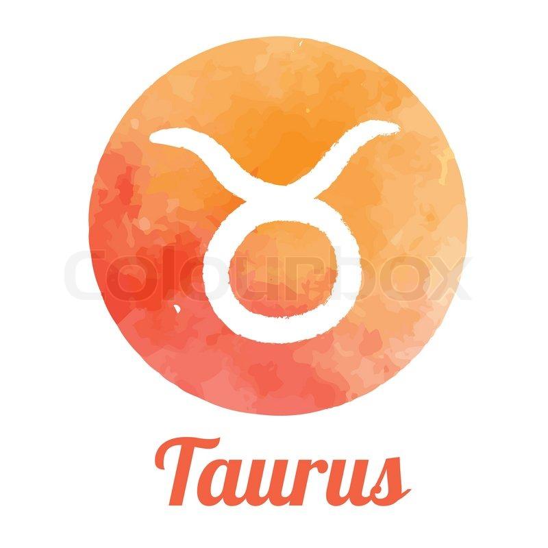 Watercolor Zodiac Icon Set Taurus Stock Vector Colourbox