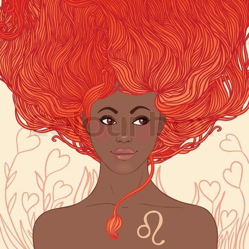 Zodiac Beautiful Girls Set African American Version Leo
