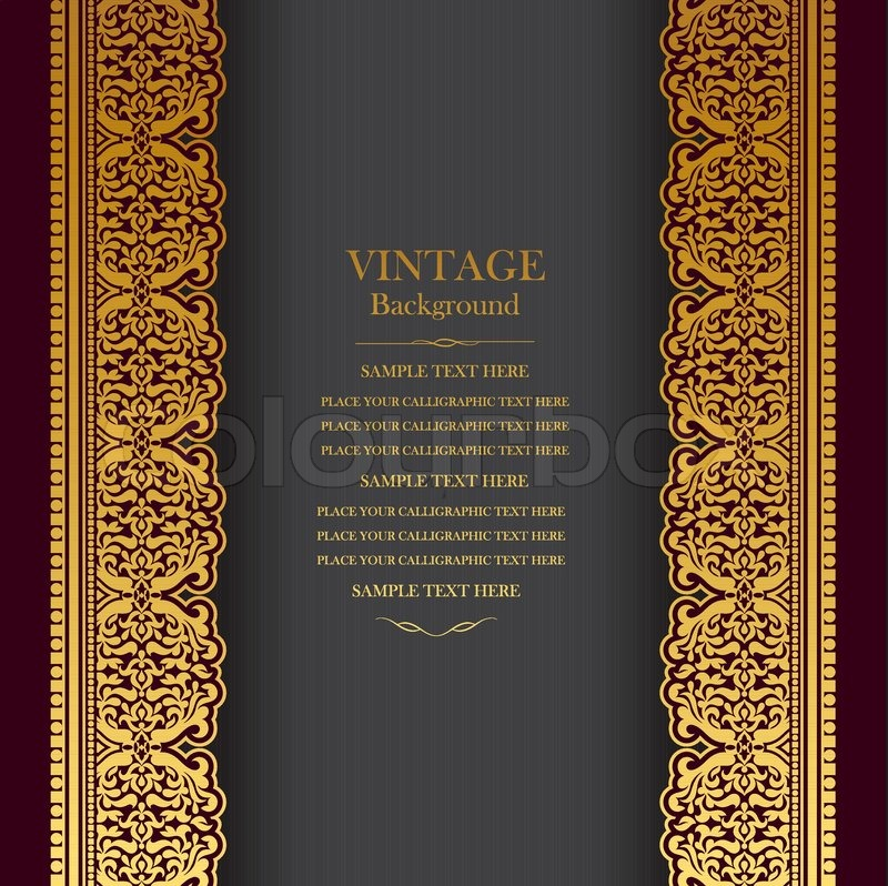 Vintage Background Design Elegant Book Cover Victorian