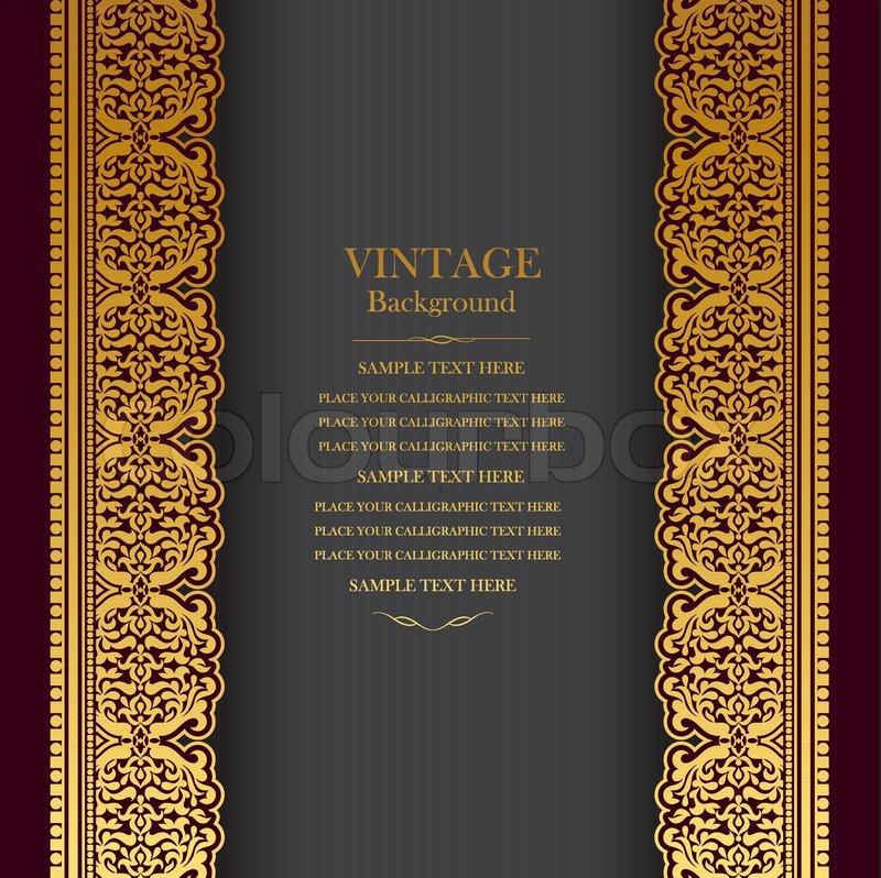 Vintage background design, elegant book cover, victorian style ...