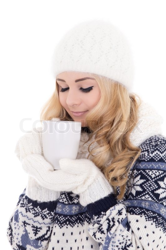 1b9568a502a7 Beautiful girl in winter clothes with ...