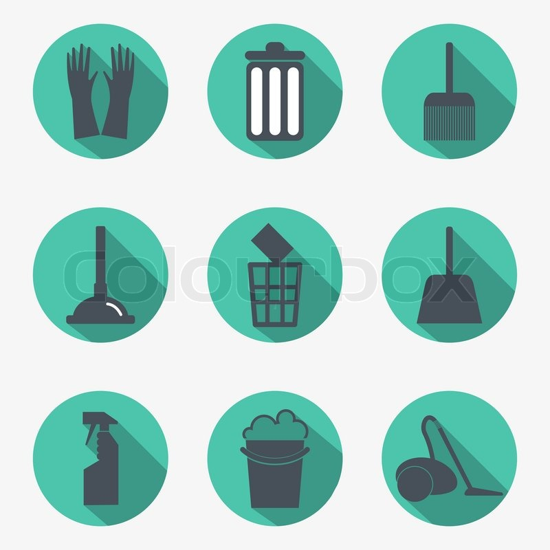 Cleaning Icons Stock Vector Colourbox