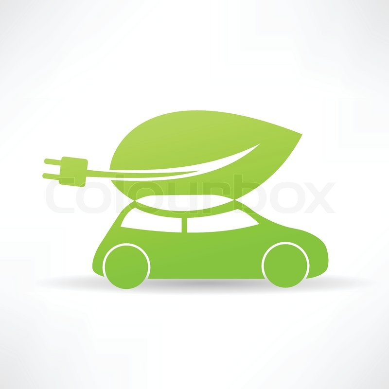 Green Car Icon Green Eco Car Icon Vector