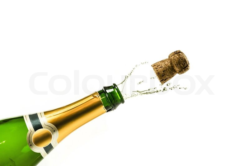 bottle of champagne popping at new years eve stock photo colourbox. Black Bedroom Furniture Sets. Home Design Ideas