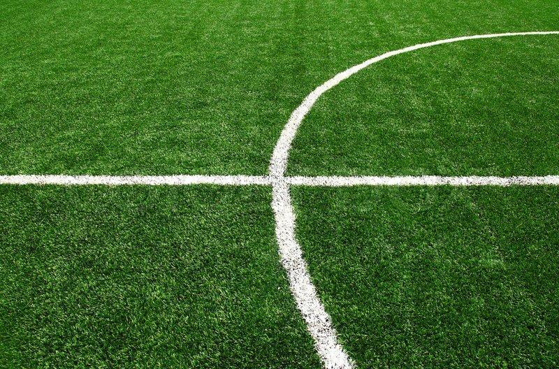 Soccer Football Field Stadium Grass Line Stock Photo Colourbox