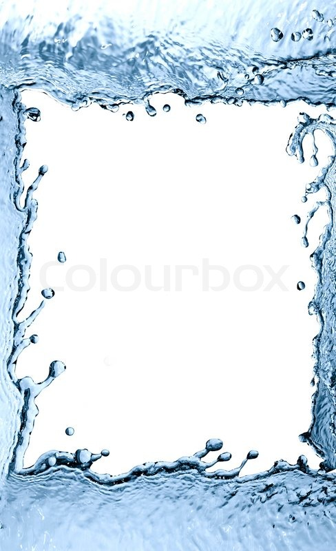 Nice picture frame made from abstract splashing water | Stock Photo ...