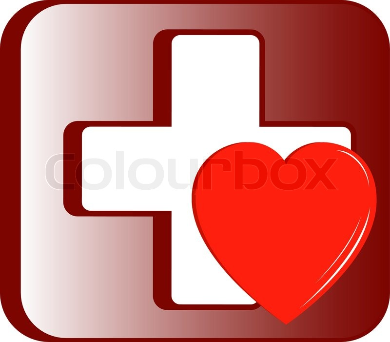 quotmedical first aid kit icon with cross and heart