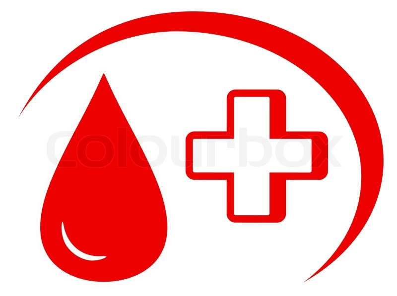 Red Symbol Medical Cross And Blood Drop Stock Vector Colourbox