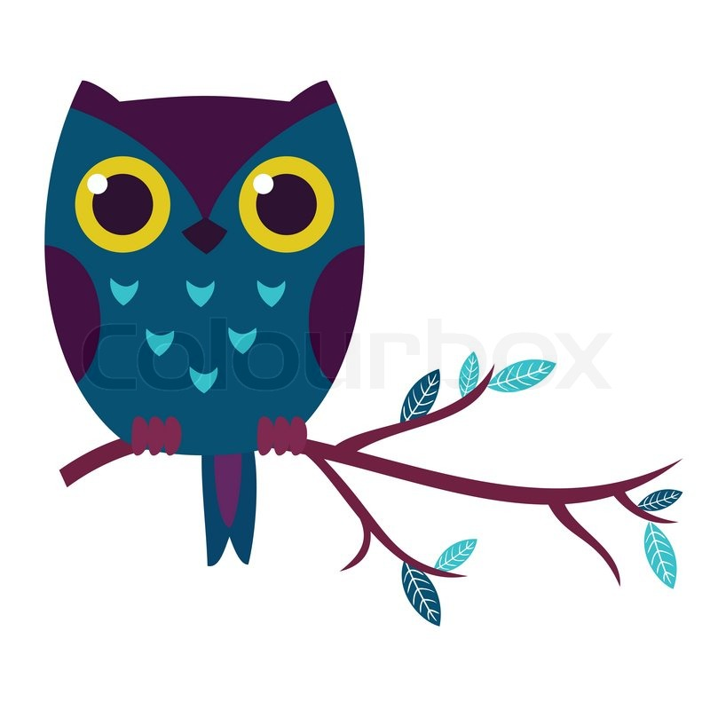 Cute owl isolated vector illustration. | Stock Vector ...
