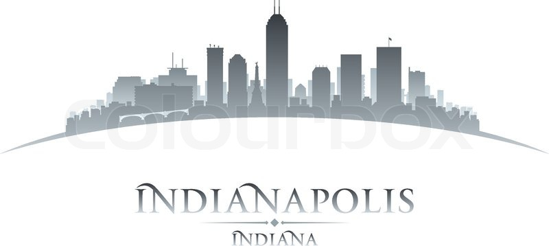 indianapolis indiana city skyline silhouette vector illustration