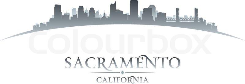 Sacramento California City Skyline