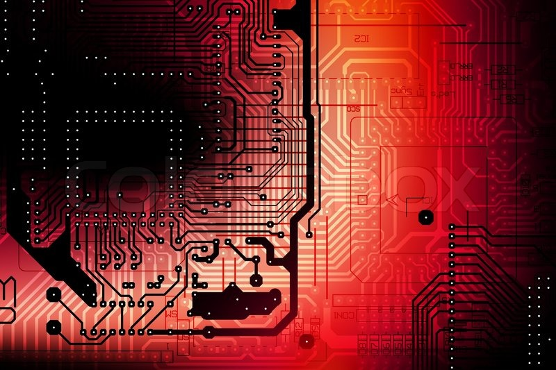 circuit board abstract backdrop red and black circuit boards scheme