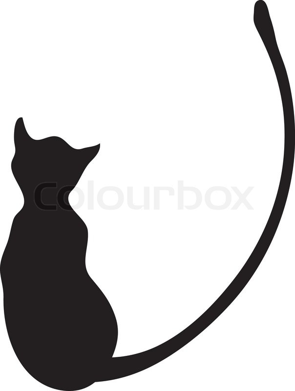 silhouette of a black cat vector illustration stock vector rh colourbox com cat vector logo free download cat vector free download