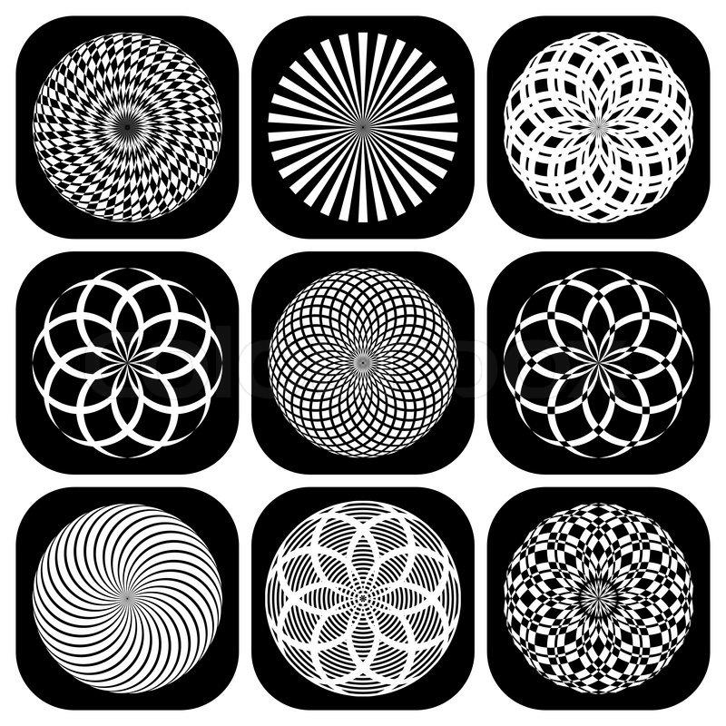Worksheets Shape Design Patterns design elements set decorative patterns in circle shape vector art vector