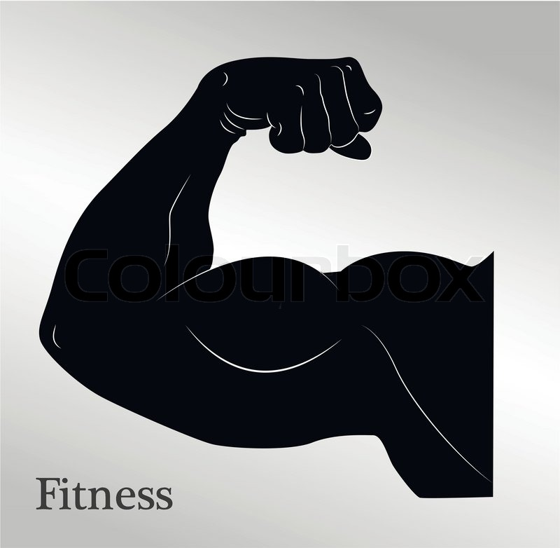 Cartoon Biceps Mans Arm Musclesvector Eps10 Stock Vector