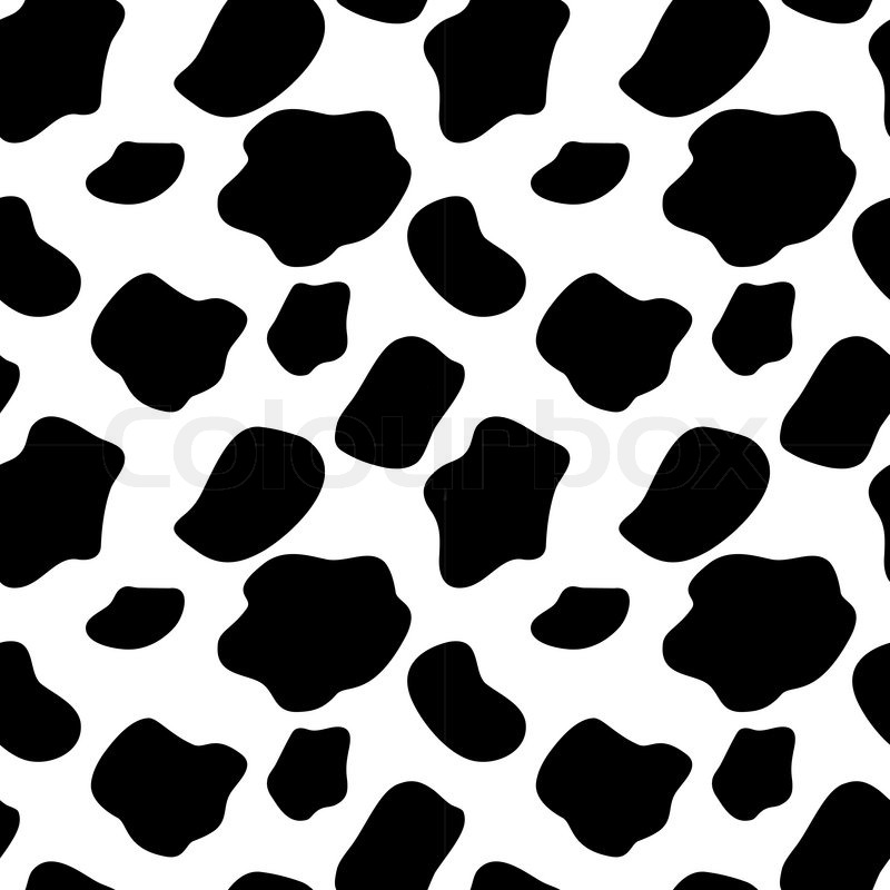 Cow Pattern Vector Cow Seamless Pattern