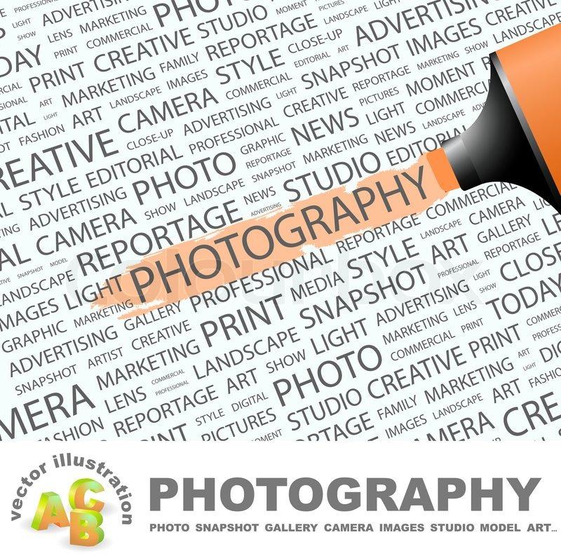 PHOTOGRAPHY  Word cloud concept       Stock vector   Colourbox